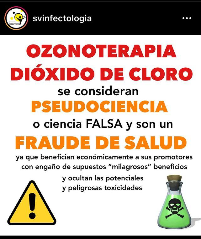 Al hablar del ozono como producto para ser usado médicamente, lo primero que escriben los infectólogos en sus guías es: No se recomienda su uso.