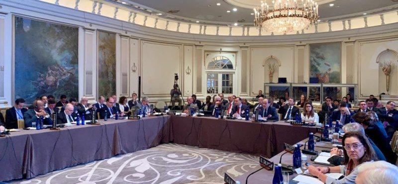 Julio Borges durante reunión de la OEA y el TIAR sobre Venezuela, en septiembre de 2019. Foto: Cortesía Prensa OEA